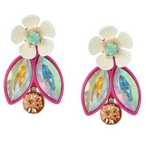 Betsey Johnson Buzz Off Flower Cluster Earrings